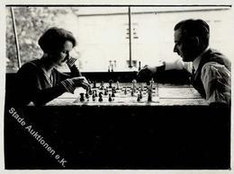 Schach Foto 12 X 9 Cm I-II - Schach