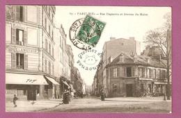 Cpa Paris Rue Daguerre Et Avenue Du Maine - Boulangerie, Hotel Du Progres - éditeur LJ N°67 - Distretto: 14