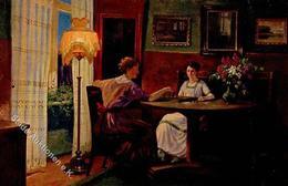 Schach Frauen Sign. Panitzsch, Rob. Künstlerkarte I-II Femmes - Schach