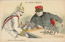 Schach Kaiser Wilhelm Politik  I-II - Schach