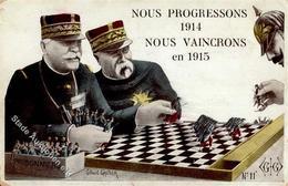 Schach Kaiser Wilhelm Politik Sign. Gautier, Gilbert I-II - Schach