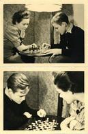 Schach Lot Mit 2 Fotos 11,7 X 8,7 Cm Ca, 40er-50er Jahre I-II - Schach