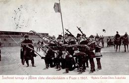 Schach Prag  Tschechien Lebendschach 1907 I-II (fleckig) - Schach