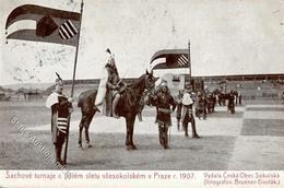 Schach Prag  Tschechien Lenendschach 1907 I-II (fleckig) - Schach