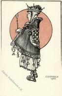 Schach Sign. Garraux, F. Künstlerkarte I-II - Schach