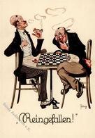 Schach Sign. Jüng Künstlerkarte I-II - Schach