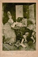 Schach Sign. Reinicke, Rene Schach Dem König Künstlerkarte 1900 I-II - Schach