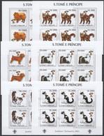KV081 2003 SAO TOME & PRINCIPE FAUNA PETS CATS & DOGS SCOUTING !!! 6SET MNH - Domestic Cats