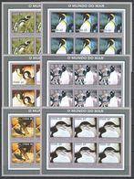 KV128 IMPERF 2002 MOZAMBIQUE FAUNA BIRDS PENGUINS 6SET MNH - Penguins