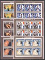 KV130 IMPERF 2002 MOZAMBIQUE ANIMALS POLAR BEARS 6SET MNH - Bears