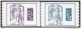 France Autoadhésif N° 1216 Et 1217 ** Marianne De Ciappa Et Kawena - Datamatrix. Sans Les Poids Europe Et Monde (PRO) - Adhesive Stamps