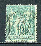 France   Y&T    65    Obl    ---    Oblitération Centrale Lille Nord - 1876-1878 Sage (Type I)