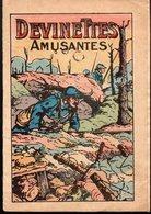 Argentan : (guerre 14-18) Fascicule DEVINETTES AMUSANTES  Offert Par PARIS VETEMENT à ARGENTAN (PPP21283) - Documentos Antiguos