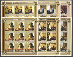 KV176 IMPERF 2001 MOZAMBIQUE MOCAMBIQUE ART PAINTINGS JOHANNES VERMEER 9SET MNH - Arts