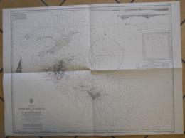 Carte Marine  Caraïbes Iles Anguilla St Martin Et St Barthelemy 1973-77 West Indies Antilles Sea Map 52x70 Cms - Cartes Marines