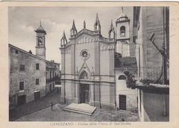 CAREZZANO-ALESSANDRIA-VEDUTA DELLA CHIESA DI SANT'EUSEBIO-CARTOLINA VIAGGIATA IL 17-6-1973 - Alessandria