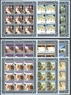 KV219 2001 MOZAMBIQUE MOCAMBIQUE ART PAINTINGS PAUL DELVAUX 9SET MNH - Art