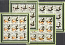 KV225 2002 MOZAMBIQUE FAUNA PETS DOGS SCIENTIST LOUIS PASTEUR !!! 9SET MNH - Louis Pasteur