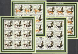 KV226 IMPERFORATE 2002 MOZAMBIQUE FAUNA PETS DOGS LOUIS PASTEUR !!! 9SET MNH - Louis Pasteur