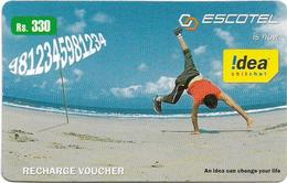India - Escotel - Front Handspring At Beach, GSM Refill 330₹, No Expiry, Used - India