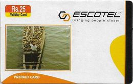 India - Escotel - On Boat, GSM Refill 25₹, Exp.07.10.2006, Used - India