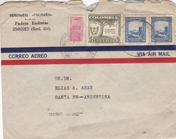 """COLOMBIA - COMMERCIAL COVER """"SEMINARIO VALMARIA"""" CIRCULATED FROM USAQUEN TO SANTA FE, ARGENTINA IN 1959, AIR MAIL -LILHU - Colombia"""