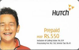 India - Hutch - Boy Laughing, GSM Refill 550₹, Exp.06.03.2005, Used - India