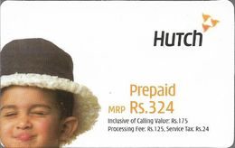 India - Hutch - Boy With Hat And Wince, GSM Refill 324₹, Exp.15.05.2005, Used - India