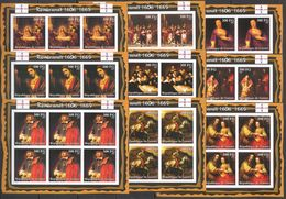 KV248 IMPERFORATE 2002 GUINEA ART PAINTINGS REMBRANDT VAN RIJN !!! 6SET(9KB) MNH - Rembrandt