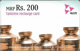 India - Hutch - Brass Cans, GSM Refill 200₹, Exp.04.2007, Used - India