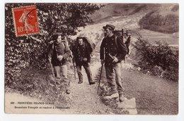 FRONTIERE FRANCO-SUISSE * DOUANIERS * EMBUSCADE * Carte N° 500 * éditeur Michaux, Bellegarde - Customs