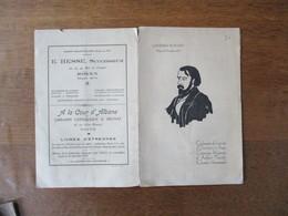 CATHEDRALE DE ROUEN 15 DECEMBRE 1931 CENTENAIRE DE L'ARRIVEE D'OZANAM A PARIS,CEREMONIE RELIGIEUSE,AUDITION MUSICALE CHO - Programs