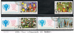 URSS - SG 4918.4921  - 1979 CHILD INT. YEAR (COMPLET SET OF 4; 3 WITH LABELS)     - USED°  - RIF. CP - 1923-1991 USSR