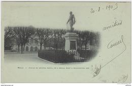 MEAUX STATUE DU GENERAL RAOUL NE A MEAUX MORT A REISCHOFFEN 1870 PRECURSEUR 1903 - Meaux