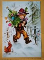 KOV 8-175 - NEW YEAR, Bonne Annee, Children, Enfant, Squirrel, écureuil - New Year