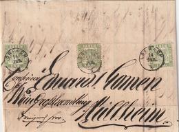 Baden / 1868 / Mi. 23 3x Auf Brief K2 LOERRACH (3152) - Baden