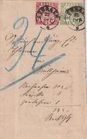 Baden / 1868 / Mi. 23 Und 24 Zusammen Auf Brief (Bedingter Zahlungsbefehl) K2 LOERRACH (3153) - Baden