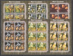 KV305 2002 TCHAD ART PAINTINGS PAUL CEZANNE 6SET MNH - Art