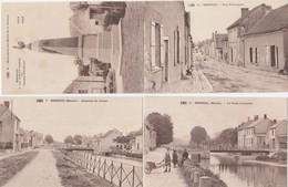4 CPA:BISSEUIL (51) RUE PRINCIPALE,ENFANTS AU PONT TOURNANT,QUARTIER DU CANAL,MONUMENT AUX MORTS DE LA GUERRE 1914-1919 - Otros Municipios