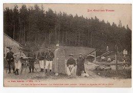 POTEAUX FRONTIERES * COL DES VOSGES * STE MARIE * Avant Guerre 14/15 * BORNE * Carte N° 5514 Ad. Weick, St Dié *DOUANIER - Zoll