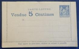 France Entier Carte-lettre Type Sage 15 Cts Avec Publicités Intégrées. Tirage Limité. Rare! TB. A Saisir! - Entiers Postaux