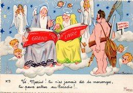 CPM  - Humour Marseillais  -  Au Paradis  -    Neuve- TBE - Humour