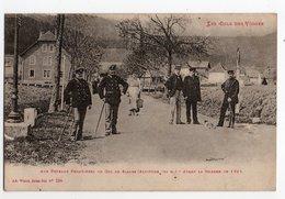 POTEAUX FRONTIERES * COL DES VOSGES * DE SAALES * DOUANIER * Avant Guerre 14/15* Ad. Weick, St Dié - Customs