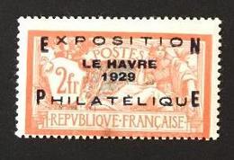 FRANCE - 1929 - YT 257a - Exposition Du Havre - Neuf Avec Charnière  * - Signé Jacquart - Cote 875EUR - France
