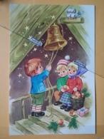 KOV 8-176 - NEW YEAR, Bonne Annee, Children, Enfant, BELL, APPLE - Nouvel An