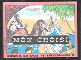 Reubreuve-ranchicourt Mon Choisi Vin De Table 12°, Brasserie De Ranchicourt , Rare Dans Cet état - Other