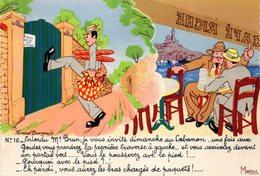 CPM  - Humour Marseillais  -  Le Cabanon  -    Neuve- TBE - Humour