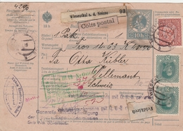 Autriche Bulletin D'expédition Wiesenthal Pour La Suisse 1919 - 1918-1945 1. Republik