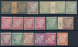 """DG-158 FRANCE""""  Lot  """"TAXES"""" ** Sauf Millésimes* - 1859-1955 Neufs"""