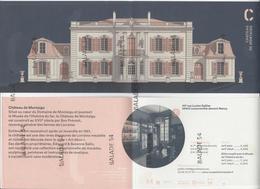 Dépliant Publicitaire Format CPM Dépliant - Chateau De MONTAIGU (54) LANEUVEVILLE-DEVANT-NANCY - France